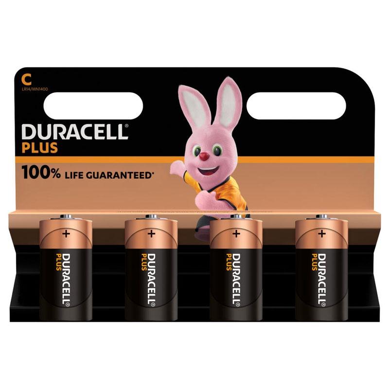 C Duracell Plus Power C Alkaline Battery (Pack 4) MN1400B4PLUS