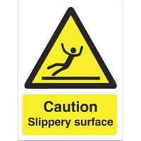 Hazard Caution Slippery Surface Sign