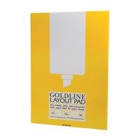 Goldline Layout Pad Bank Paper Acid-free 50gsm 80 Sheets A3 Ref GPL1A3Z [Pack 5]