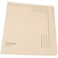 Guildhall Slipfile 230gsm Capacity 50 Sheets A4 Cream Ref 4609Z [Pack 50]