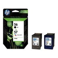 Inkjet Cartridges HP 56/ 57 Black Standard Capacity Tricolour Ink Cartridge 19ml 17ml Twinpack - SA342AE