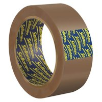 Packing Tape Sellotape Buff Vinyl Case Sealing 50mmx66m PK6