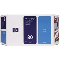Hewlett Packard [HP] No. 80 Inkjet Cartridge Page Life 2200pp 175ml Cyan Ref C4872A
