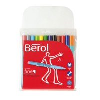 Berol Color Fine Fibre Tip Pen Assorted PK12