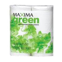 Maxima Green Toilet Roll White PK48