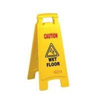 Hazard ValueX Caution Wet Floor Yellow Plastic Sign