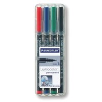 Staedtler Lumocolor OHP Pen Perm Superfine 0.4 Assrted PK4