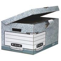 Storage Boxes Fellowes Bankers Box System A4/FS Flip Top Storage Box PK10