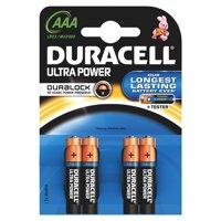 Image for Duracell Ultra Power MX2400 Battery Alkaline 1.5V AAA Ref 81417787 [Pack 4]