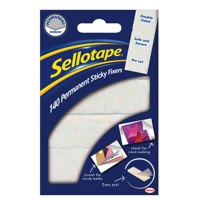 Image for Sellotape Sticky Fixers Double-sided 12x25mm 140 Pads Ref 1445422 [Pack 6]