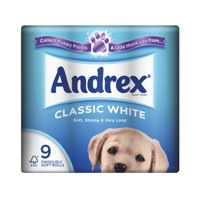 Toilet Tissue & Dispensers Andrex Toilet Rolls 2 Ply 240 Sheets Classic White (9 Rolls)