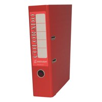 Rexel Colorado Lever Arch File Plastic 80mm Spine A4 Red Ref 28148EAST [Pack 10]