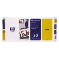HP C4823A YELLOW PHEAD AND CLEANER NO.80