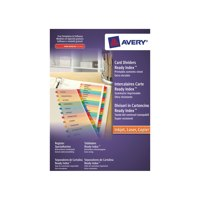 Avery ReadyIndex Dividers Card Mylar Tabs A4 Jan-Dec Ref 2002501 L7411-JD
