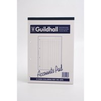 Guildhall Account Pad 6 Cash Column Ruled 41 Feint 60 Leaf A4 Ref GP6Z