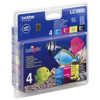 Brother LC1000 Bk/C/M/Y Value Pack