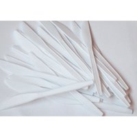 Disposable Cutlery ValueX Knives Plastic White (Pack 100)