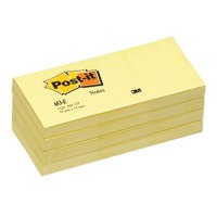 Post-It Note Rec 38x51mm Canary PK12