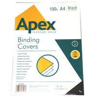 Cover Boards ValueX Leatherboard Covers Black A4 6501001 (Pack 100)
