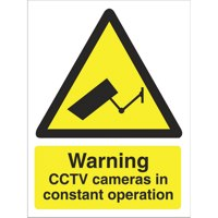 Warning Warning CCTV Cameras Sign