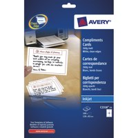 Avery Correspondence Cards Inkjet 128x82mm Matt White Ref C2318-25 [100 Cards]