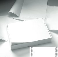 Listing Paper ValueX Listing Paper 11x241 2 Part NCR Plain Perforated (Pack 1000)
