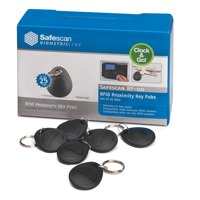 Safescan Key Fobs Pack RF-110 Radio Frequency Identification [for TA-810 & TA-850] Ref 125-0342 [Pack 25]
