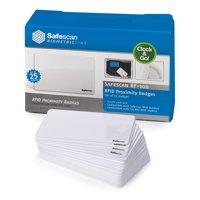 Safescan White RF-100 RFID Cards Pk25