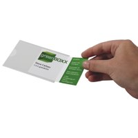 Image for Durable Pocketfix Business Card Pocket Self Adhesive Side Opening 57x90mm Ref 8079 [Pack 10]