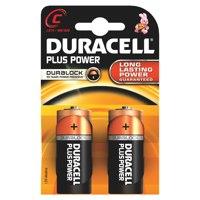 Duracell Plus C Batteries PK2