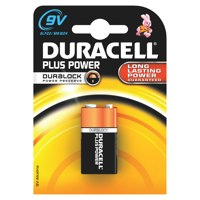 Duracell Plus 9V Batteries PK1