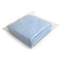 5 Star Facilities Microfibre Cleaning Cloths Colour-coded for Dry or Damp Multi surface Use Blue [Pack 6]
