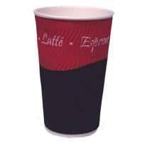 Disposable Cups & Accessories Caterpack Ripple Cups 12oz (35cl) PK25