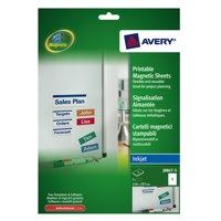 Avery Magnetic Sign Removable 50x140mm 8 per Sheet White Ref J8875-5 [40 Signs]