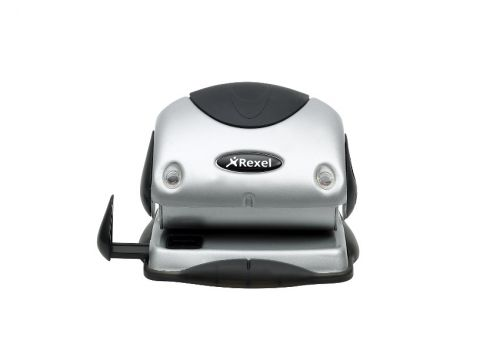 Rexel P215 Punch 2-Hole with Nameplate Capacity 15x 80gsm Silver and Black Ref 2100738