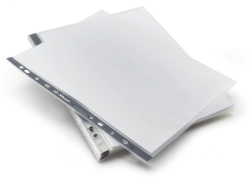 Rexel Eco-Filing Punched Pocket Recycled Polypropylene Top-opening 100 Micron A4 Ref 2102242 [Pack 25]