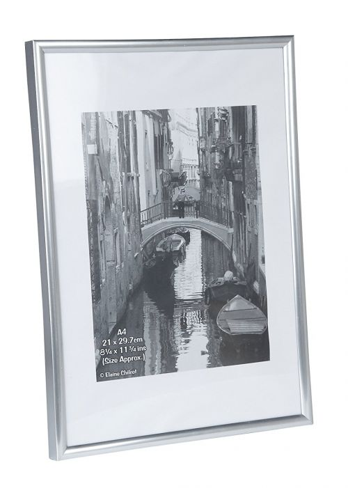 A4 Certificate Frame Plastic Silver A4MARSIL-NG