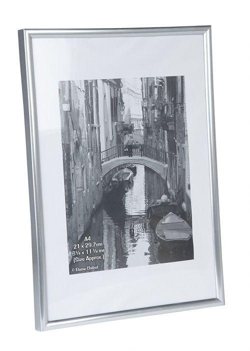 Image for PAC A4 Cert Frame Back Loader Silver