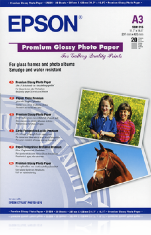 Epson C13S041315 Glossy Photo Paper A3 20 Sheets