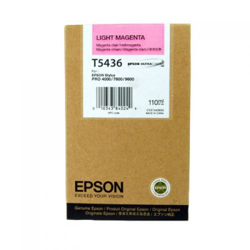 Epson C13T543600 T5436 Light Magenta Ink 110ml