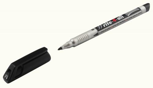 Stabilo Write-4-All 1.0mm Med Tip Perm Marker Pen BK PK10