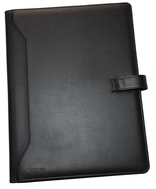 Monolith Leather Look A4 Conference Folder and Pad