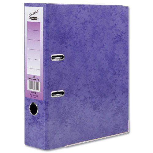 Concord Contrast Lever Arch File A4 Purple PK10
