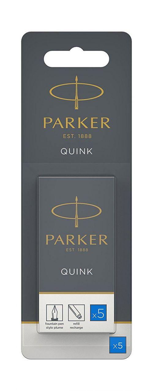Parker Quink Fountain Pen Refills Cartridges Royal Blue PK5