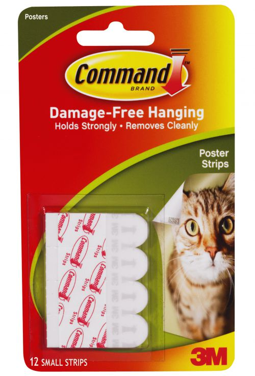 3M Command Adhesive Poster Strips. Pack of 12