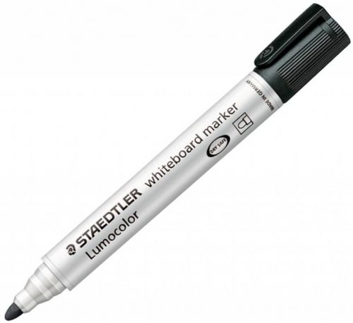 Staedtler Whiteboard Marker Black Bullet PK10