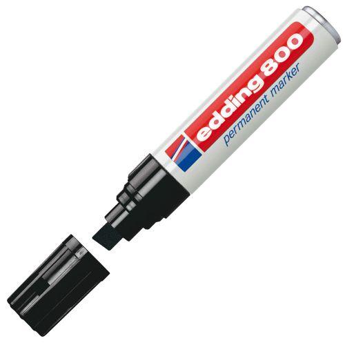 Edding 800 Permanent Marker Chisel Tip 4-12mm Black PK5