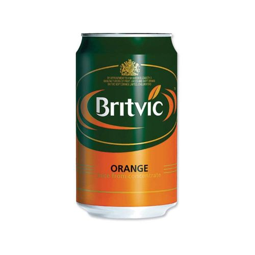Britvic Pure Orange Juice 330ml Cans PK24