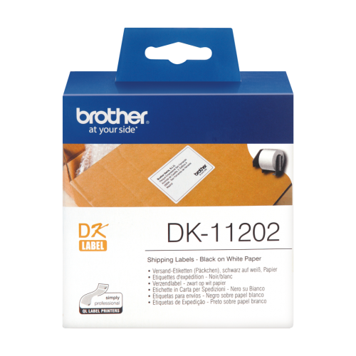 Brother Shipping Labels (300/Roll) 62 X 100mm