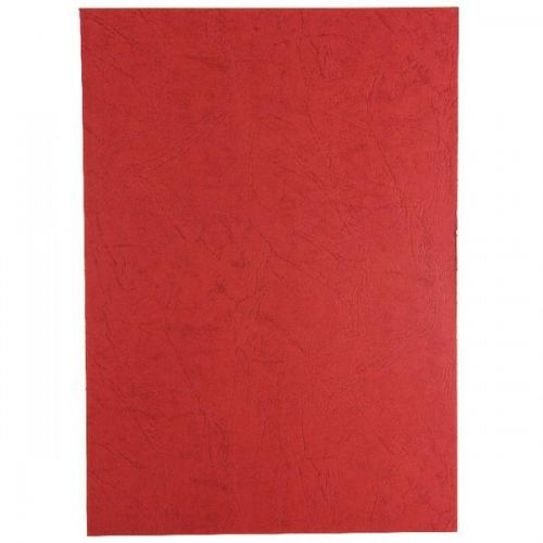 GBC Leathergrain Cover Set Dark Red A4 50 Pairs CE040030